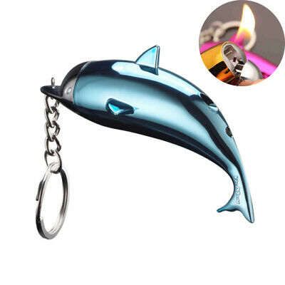 Keychain Lighter Creative Dolphin Cute Gas Lighters Women Cigarette Collection