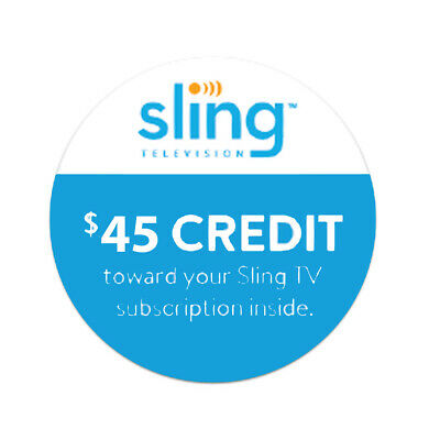 SLING TV GIFT Card - $25 $50 or $100 - Email delivery - $25 00