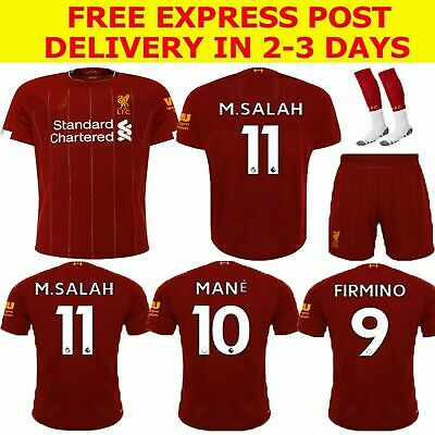 cheap for discount 26429 8ce27 2020 LIVERPOOL FOOTBALL soccer kids kit jersey club #11 M.SALAH Firmino  mane 10