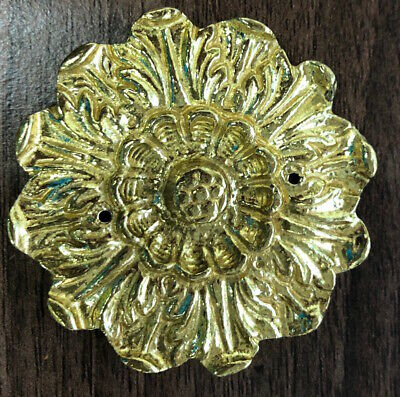 Hermle or Kieninger Clock Case Rose - huge Ormolu Rose for Clock 5.5cm Diameter