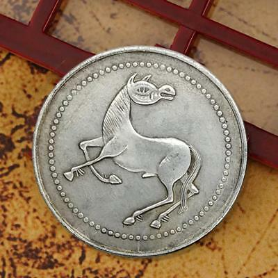 Metal Crafts Collection Gifts Horse Flower Commemorative Coin