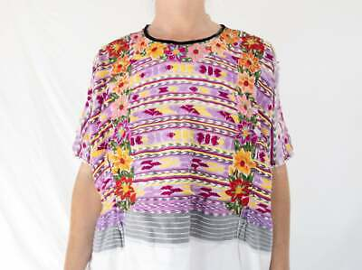 Vintage Totonicapan Huipil. Hand-Woven & Embroidered. Ikat