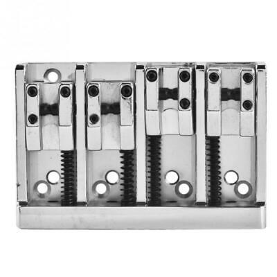 Chrome 4 String Electric Bass Bridge For Washburn,ESP LTD,Schecter,Peavey,etc
