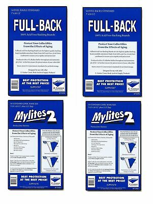 100 Mylites2 STANDARD Mylars Sleeve & Full Back 42pt Boards 725M2/700FB E.Gerber