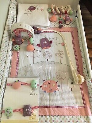 Prickles & Twoo Lollipop Lane embroidered nursery cot bed bedding + accessories