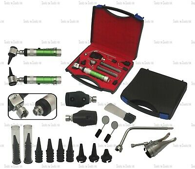 GREEN Veterinary Otoscope Ophthalmoscope Diagnostic Kit ENT Surgical Instrument