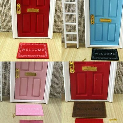 1/12 Mini Dollhouse Welcome Home Carpet Toy Furniture Doll House Miniature Deko/