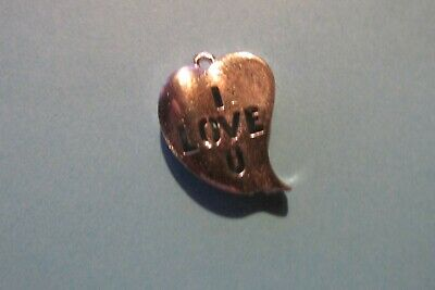 One Hundred Pewter I Love You Heart  Charms Wholesale Price