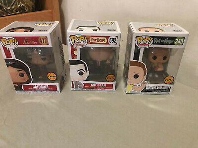 Lotto 3 Funko POP! Limited Edition Chase (Jasmine, Mr Bean, Morty)