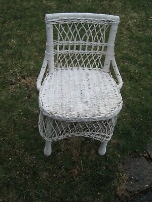 Antique Wicker Chair Child's Chair Circa 1910