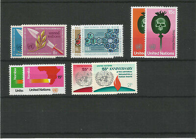 1973 United Nations UN Year Collection of Stamps. 5 MNH Sets.