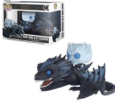 Funko Pop Rides Night King and Icy Viserion #58 Glow GITD Game of Thrones! New