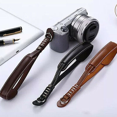 Camera Strap Wrist Hand Belt Strap PU Leather Lanyard for DSLR Camera Sony Canon