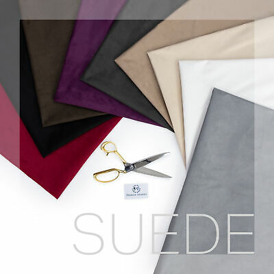 Faux Suede Material Sewing Upholstery Soft Touch Suedette