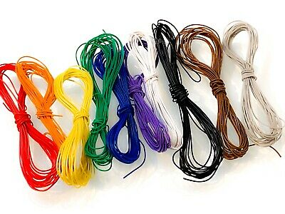 30m DCC Decoder Wire, 10 Colours, 30awg, 10x3m Lengths, All Standard Colours