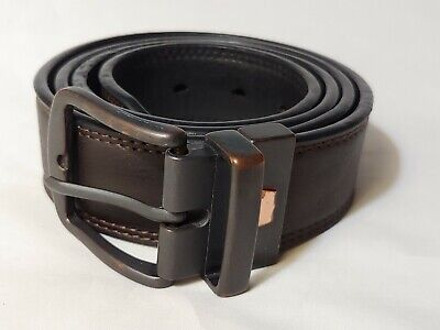 LEVI'S Dark Brown Synthetic Leather Men's Casual Belt Size 34 - 36