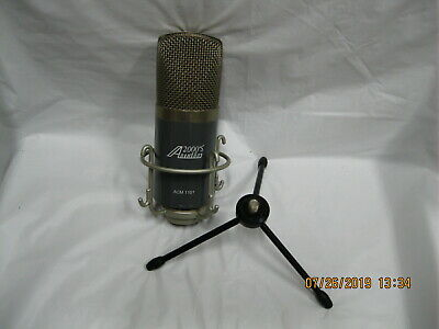 audio 2000 large diaphram mic desk mic acm 1101 stand and mic