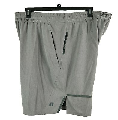 Russell Athletics Big Mens 2XL or 3XL Shiny Grey Side Vented Athletic Shorts New