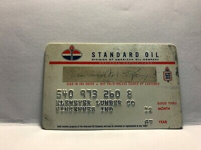 Vintage 1967 Expiration Standard Oil Company American Oil Gas Credit Card      4