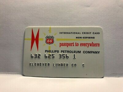 Vintage Phillips 66 Petroleum Company 1960's Collectors Credit Card Expired    6