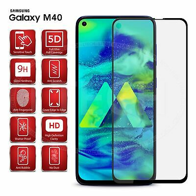 For Samsung Galaxy M40 (2019) -Full Glue Tempered Glass Screen Protector [Black]