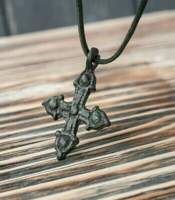 Medieval Crusaders Period Bronze Cross Pendant 12th-13th AD