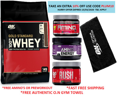 ON OPTIMUM NUTRITION 100% WHEY O.N 10LB 4.5kg GOLD STANDARD 10lbs PROTEIN O.N