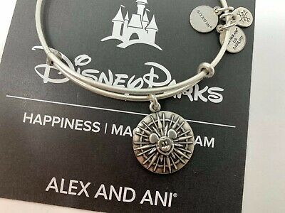 Disneyland Alex And Ani California Adventure Mickey's Fun Wheel Silver Bracelet
