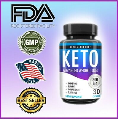 Keto BURN Diet Caps 800 MG Ketosis Weight Loss Supplements, Boost Energy Now