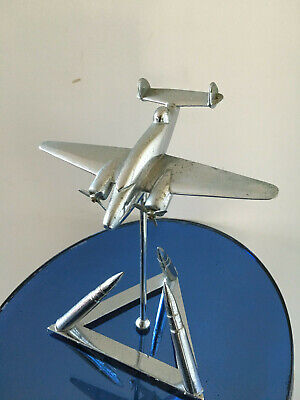 Art Deco Cast Metal Vp-1 Ventura Bomber Plane, Desk Sculpture Art