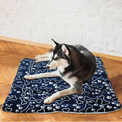 Washable Pet Soft Blanket Dog Puppy Bed Pad Cute Coral Mat For Home Deors