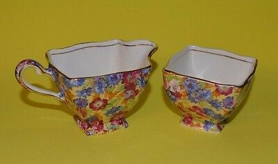 "Royal Winton "" Royalty "" Chintz  England - Cream and Sugar Set"