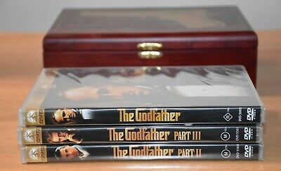 The Godfather Trilogy - Limited Edition Collector's Wooden Gun Box Set New