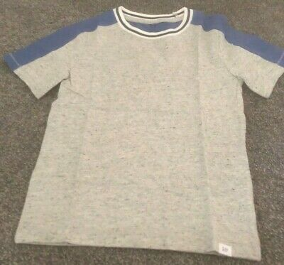 New - Boys Gap Tee  T-Shirt Grey And Blue Size - Age 5 Years
