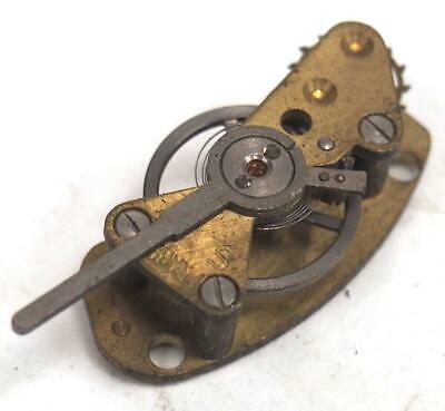 Antique Cylinder Platform Balance Platform Escapement Carriage Mantel Clock