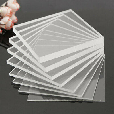 Clear Acrylic Perspex Sheet Cut To Size Plastic Plexiglass Panel DIY 1.5mm nd