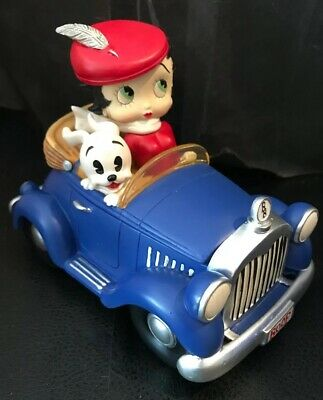 Betty Boop & Pudgy In Sports Car Music Trinket Box By San Francisco Music Box Co
