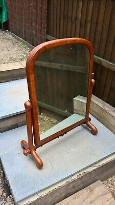 Large Victorian Walnut dressing table mirror nice solid item