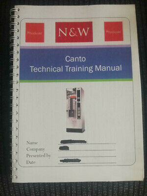 Canto Vending Machine Technical Manual For Evoca N&W Canto Coffee Drinks Machine