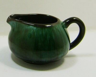 Blue Mountain Pottery Creamer Pitcher Green Turquiose Drip BMP