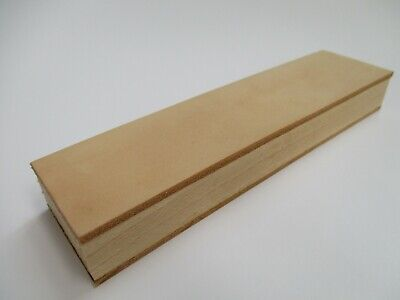"""8x2"""" (20x5cm.) Leather Sharpening Strop Wood Stropping Block for Razors Knives"""