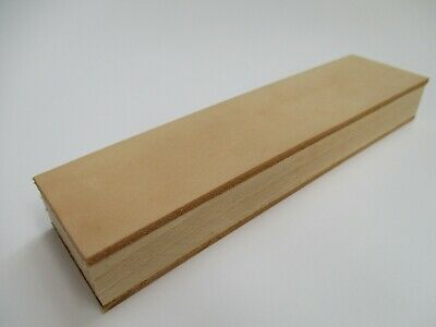 """8x2"""" (20x5cm.) Wood Handle Leather Sharpening Strop for Razors Knives Edge Tool"""