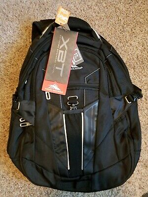 "High Sierra XBT TSA Laptop Backpack Black 19.5x13x7"": NEW! Ship Daily!"