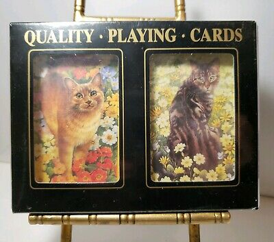 Vintage F. X. Schmid Playing Cards NEW KITTY CAT CARDS German Cards SEALED