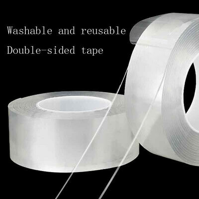 Magic Double-sided Tape Traceless Washable Adhesive Tape Invisible Gel Tape #Yo