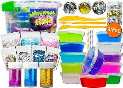 Slime Making Kit 2019 New Toys Gift Set For Girls and Boys Fruit Kits In A Case