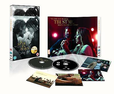 STAR IS BORN DVD + SOUNDTRACK AUDIO CD + POSTCARDS Lady Gaga GIFT EDITION NEW