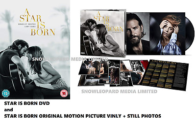 """STAR IS BORN DVD AND ORIGINAL MOTION PICTURE SOUNDTRACK 12"""" VINYL OST Lady Gaga"""