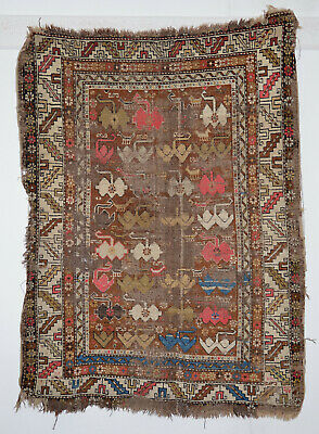 antique Orientteppich lovely kaukas. Schirwan 145x105 shirvan fragment rug