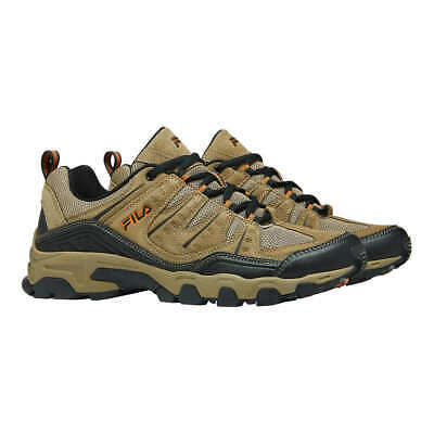 FILA Men's Midland Outdoor Hiking Athletic Trail Shoes Brown/Orange, Pick A Size